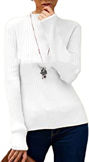 FSSE Womens Fall & Winter Slim Fit Solid Knit Stretchy Sweater Pullovers