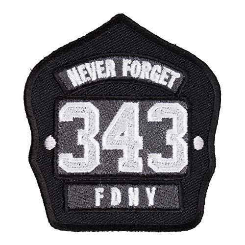 FDNY 343 Never Forget Helmet Patch, 9-11 Patches