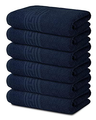 TOALLA Juego de 6 toallas de baño 100% algodón, 500 g/m², toalla de baño suave y grande, súper absorbente, secado rápido, ideal para piscina, hogar, gimnasio, spa, hotel,...