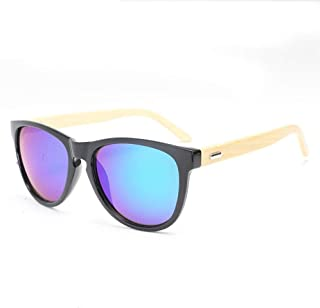 Songlin@yuan Polarized Mirror Handmade Bamboo Fashion Sunglasses Men and Women Bamboo Legs Glasses New Bright Ink Unisex (Color : Green)