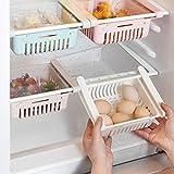 RXING 4PCS PLASTIQUE Boite Rangement Frigo Réfrigérateur Escamotable avec Tiroir Organisateur Compartiments supplémentaires universels
