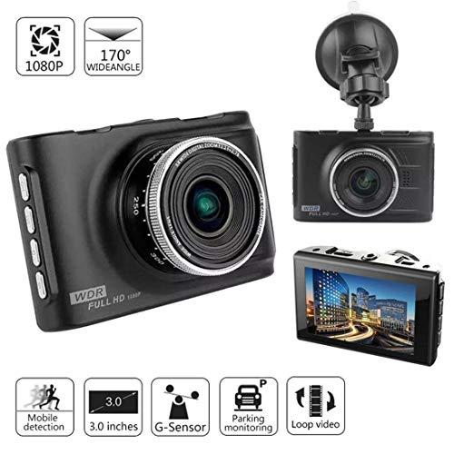 Grewtech 7,6 cm Caméra de voiture Full HD 1080p Voiture Dash Cam Caméra de tableau de bord avec 170 degrés Ultra objectif grand angle, G-Sensor, moniteur de stationnement, boîtier en alliage de zinc en métal