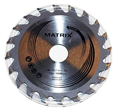MATRIX Sägeblatt 85 x 15 x 1,2mm (Ersatzsägeblatt für Akku Handkreissäge AKCS 12V Li)