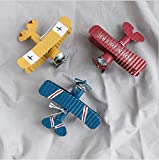 LAARNT 3pcs Jouets de Modèle d'avion en Fer pour Enfants,Jouet de Figurine d'avion Solide,Jouet de Collection d'avion pour décorer Le Table,Décorations de Bureau