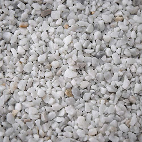 BTT-ST Steinteppich aus Marmorkies Bianco Carrara und Epoxidharz Bindemittel für 7,2m² Marmorstein Marmorkiesel Steinboden Bodenbeschichtung