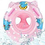 O-Kinee Anillo de Natación Asiento, Flotadores para Bebes Swim Safe Inflable Piscinas Playa Juguetes de Natación Fiesta para Regalo Bebe, Rosado