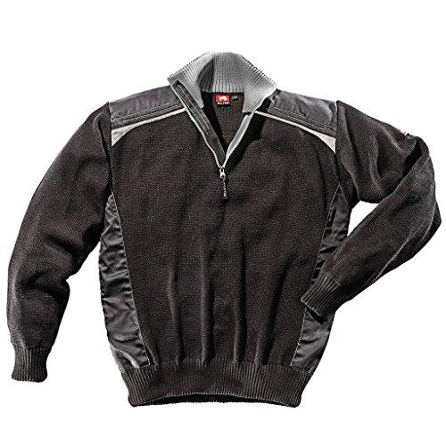 Bullstar Herren Stricktroyer Ultra Pullover, Schwarz (Schwarz-Grau 104), Medium
