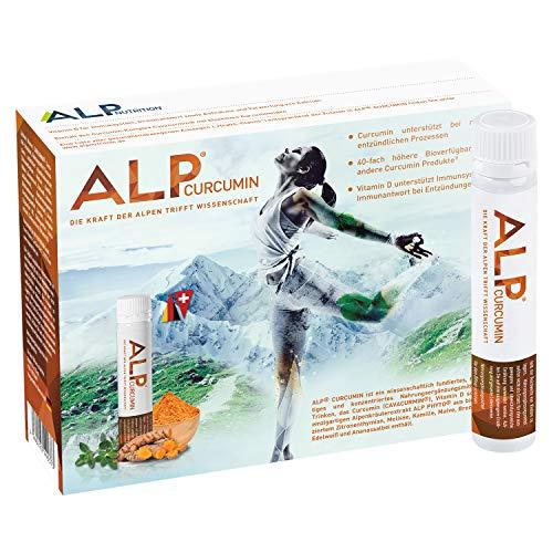 ALP CURCUMIN liquid Curcuma Extrakt Vitamin D3 Kurkuma Immun Boost Trinkampullen 14x25 ml Immunsystem stärken mit Vitamin D Kurkumin Antioxidantien Immunkur