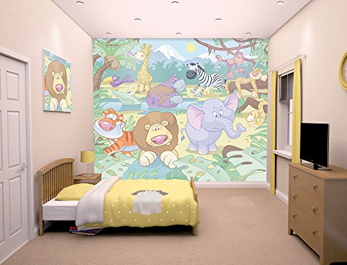 Walltastic WT40595 Baby Jungle Safari Wall Mural