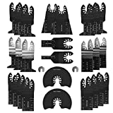 28 PCS Oscilating Multi-Tool Saw Blade Release Rápido DeWALT PARA RENOVADOR Corte de madera Universal Accesorios Multi-Tool by ROYAL STAR TY (Color : 28PCS, Teeth Type : Tool accessories)
