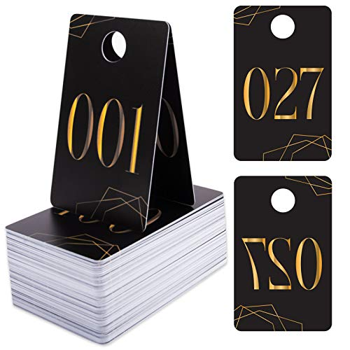 Numbers for Live Sales with Mirrored Design - 1 to 100 Paparazzi Consecutive Reverse Plastic Price Tags with Hole-Reusable Supplies for Clothing Online Sales Garage Business-Card Box for Easy Storage