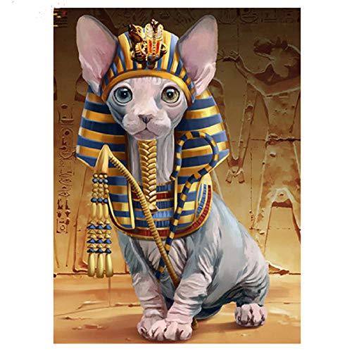 xinyouzhihi Pyramide Pharao Leinwand Malerei Poster drucken Bild gedruckt auf Leinwand Wandkunst für Home Office Dekorationen 30x40cm Kein Rahmen