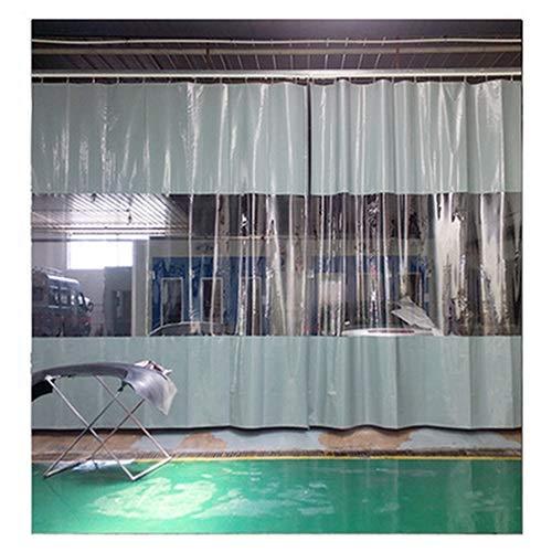 LSXIAO Al Aire Libre Impermeable Cortina con Panel De Lona Transparente, A Prueba De La Intemperie Mantener Caliente con Ojales A Prueba De Herrumbre Cada 0,5m para Pérgola