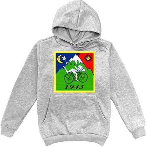 Albert Hofmann 1943 Illustration Grauer Unisex Sweatshirt Hoodie Pullover Small