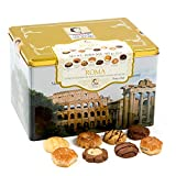 Matilde Vicenzi Roma Gift Tin | Assortment of Patisseries, Pastries, Cookies | Made in Italy | 32 oz Box