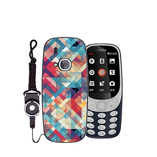 Easbuy Handy Hülle Soft TPU Silikon Case Etui Tasche für Nokia 3310 (2017) Smartphone Bumper Back Cover Handytasche Handyhülle Schutzhülle