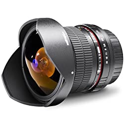 Walimex Pro 8 mm 1:3,5 DSLR Fish-Eye II Objektiv (für Sony Alpha Objektivbajonett, mit abnehmbarer Gegenlichtblende) schwarz