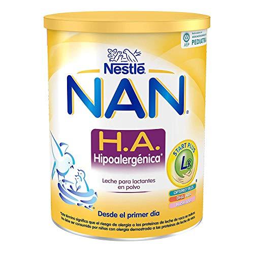 Nestlé Alimentos Infantiles NAN H.A. Hipoalergénica - Leche para lactantes en polvo - Fórmula para bebé - Desde el primer día - 800g, blanco