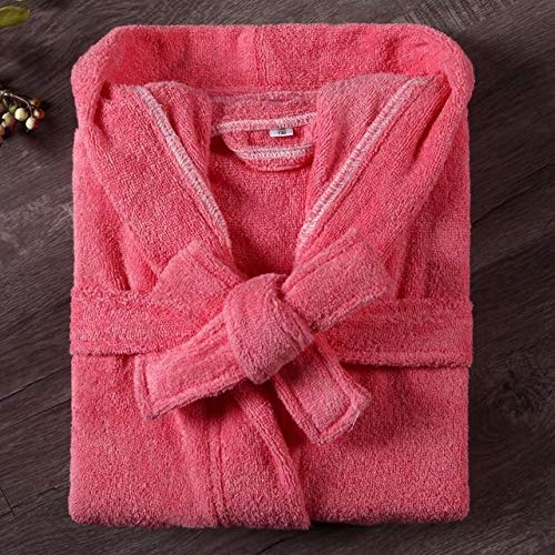 YSKDM Manga Larga Otoño Nuevo Bata de baño Casual Niños Kimono Bata Ropa de Dormir Algodón con Capucha Ropa de Dormir sólida Lencería íntima, Rojo, 6A