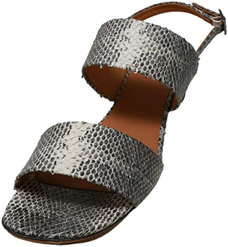 Clergerie Paris Women's Leonieco Snake Print/Double Gold Ankle-High Snakeskin Heel - 9 M