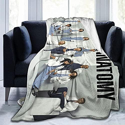 XYQXKG Grey's Anatomy - Manta temática del amor de la acción médica, microfibra, manta para decoración de cama/sofá/salón (100 x 150 cm)