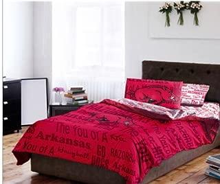 Arkansas Razorbacks NCAA Full Comforter & Sheets (5 Piece Bed In A Bag)