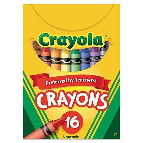 Crayola 520016 Classic Color Crayons, Tuck Box, 16 Colors