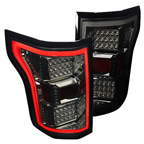 Spec-D Tuning Smoke Lens LED Bar Tail Lights for 2015-2017 Ford F150 Taillights Assembly Left + Right Pair