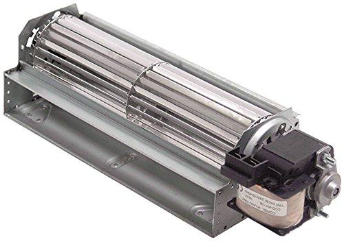COPREL TFR(FN) Querstromlüfter für Kühlgerät 40W Walze ø 60x240mm Motor rechts 230V 50Hz Anschluss Flachstecker 6,3mm 30mm