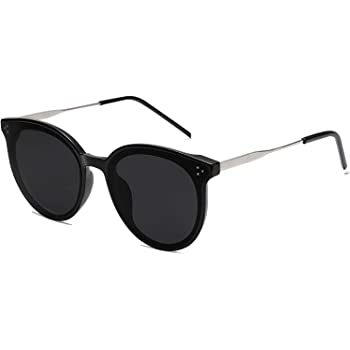 SOJOS Fashion Round Sunglasses for Women with Rivet Plastic Frame DOLPHIN SJ2068