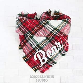 plaid dog scarf