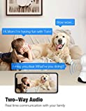 Pet Camera, Security Camera Conico 1080P HD Baby Monitor with Sound Motion Detection 2-Way Audio,Pan/Tilt/Zoom WiFi Surveillance Camera,Wireless Home Baby Cam with Night Vision Works with Alexa