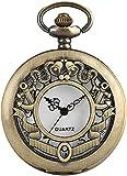 Cadena de reloj de bolsillo Exquisito reloj de caja hueca para mujer, relojes clásicos de bolsillo de cuarzo para hombre, reloj de bolsillo de cadena de cadena de collar de encanto para niña Para homb