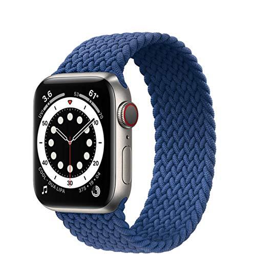 Correa trenzada de nailon para Apple Watch, correa elástica de tela, correa de bucle para iWatch Series SE / 6/5/4/3/2/1-Atlantic Blue, 38 mm o 40 mm