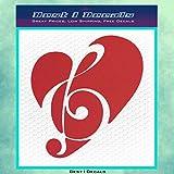"MUSIC NOTE HEART 5"" BLACK Vinyl Decal Window Sticker for Laptop, Ipad, Window, Wall, Car, Truck, Motorcycle"