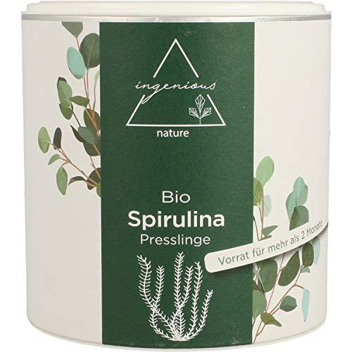 ingenious nature® Laborgeprüfte Bio Spirulina Presslinge (600 Presslinge/300g)