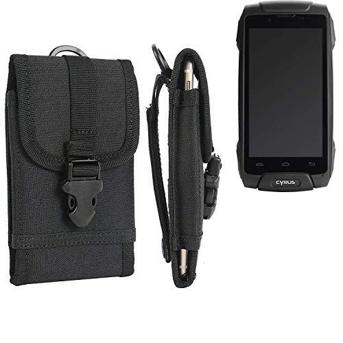 K-S-Trade® Handyhülle Für Cyrus CS 30 Gürteltasche Handytasche Gürtel Tasche Schutzhülle Robuste Handy Schutz Hülle Tasche Outdoor Schwarz