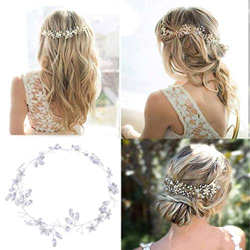 Simsly FS-194 – Haarschmuck in Rankenform mit Kristall-Blumendesign, perfekt als Brautschmuck