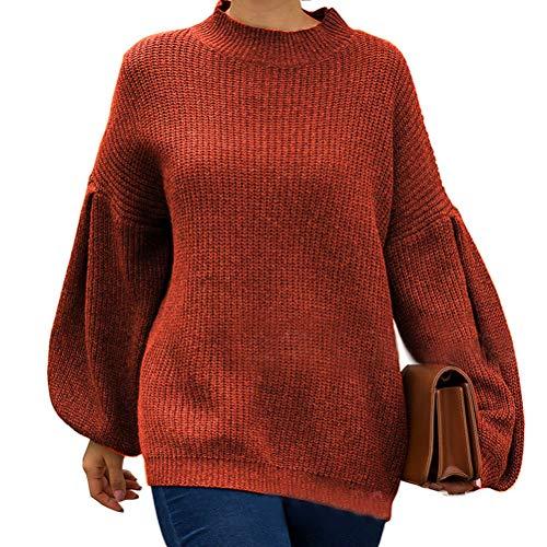 Tops Women Fashion Style Women 2019 Autumn merk Fashion Completi Sweater Tricolor lantaarnmouwen Short Loose Knitwear