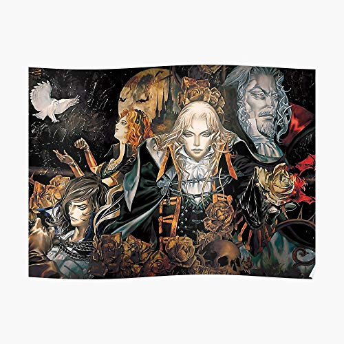 Castlevania Symphony Poster Small (22.5 x 16.4 in) | Posters Wall Art for College University Dorms, Blank Walls, Bedrooms | Gift Great Cool Trendy Artsy Fun Awesome Present Castlevania Symphony Of The Night Playstation