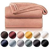 Blumtal Mantas para Sofá de Franela Suave y Acolchada - Manta Polar 100% Microfibra Extra Suave, Manta de sofá, de Cama o de Sala de Estar, Rosa, 150 x 200 cm