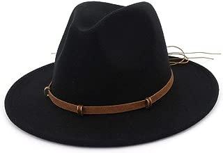 XinLin Du Autumn Winter Sun Hat Women Men Fedora Hat Classical Wide Brim Felt Floppy Cloche Cap Chapeau Imitation Wool Cap