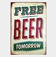 Free Beer Souvenir 金属板ブリキ看板警告サイン注意サイン表示パネル情報サイン金属安全サイン