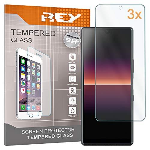 REY 3X Protector de Pantalla para Sony Xperia L4, Cristal Vidrio Templado...