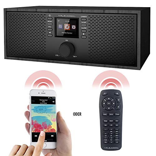 VR-Radio Webradio: Stereo-WLAN-Internetradio, Farb-Display, 12 W, Bluetooth 5, Fernbed. (WiFi Radio)