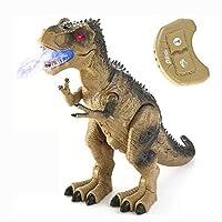 スプレー恐竜のおもちゃ、シミュレーションリモコン恐竜、ジュラシックワールド恐竜、電気子供のおもちゃ、子供の贈り物、茶色