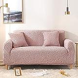 LT&NT Verdickt Sofa überwurf Für Hunde,1-stück Jacquard Sofabezug Couch Slipcover,High Stretch Couch Sofabezug Slipcover,Möbelschutz Für Kinder Haustiere-Rosa 1 Seater 90-130cm