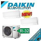 CONDIZIONATORE DUAL SPLIT INVERTER DAIKIN 9000+9000 BTU/h serie N novita 2019 gas R32 A+++