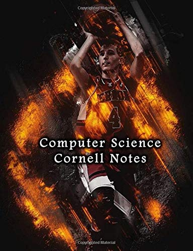 Computer Science Cornell Notes: College Ruled Notebook Paper with Recall and Note Column For Student Scholar University | Basketball Shooting Print