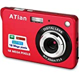 ATian 2.7' LCD HD Digital Camera Amazing Rechargeable Camera 8X Zoom Digital Camera Kids Student Camera Compact Mini Digital Camera Pocket Cameras for Kid/Seniors/Student (Red)